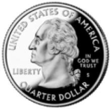 U.S. 25 cent (quarter) coin